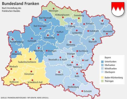 Oberfranken Karte.Fränkische Brauereien Braukulturland Franken 2 0